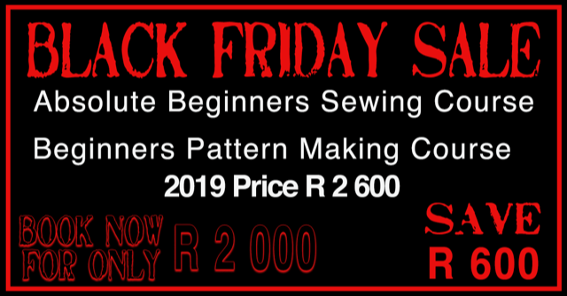 Black Friday Sewing Courses specials